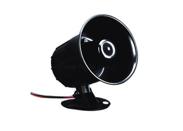 Outdoor Small 110 dB Fire Siren Alarm Black Wired Horn DC12V Waterproof