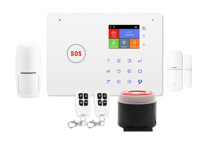 WIFI GSM GPRS Wireless Security Alarm System Elderly 2.4 inch TFT Screen Display