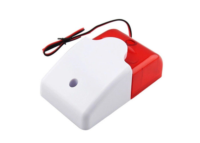 Ce Wired Strobe Siren Alarm With Flash Light 12v Mini Strobe Siren 110db