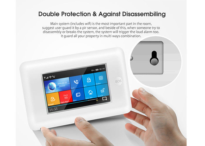 Full Touch Screen Wireless Security Alarm System GSM 3G WIFI 2 Years Warranty