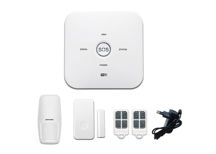 Lithium Battery Wireless Security Alarm System IOS Android App Control 2.4G WIFI