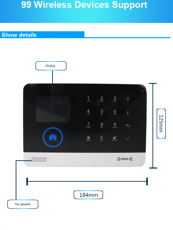 WIFI GSM Wireless Security Alarm System App Control 99 Wireless Zones