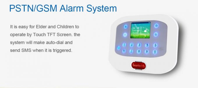 GSM PSTN Wireless Security Alarm System 6 Wired 50 Wireless Zones